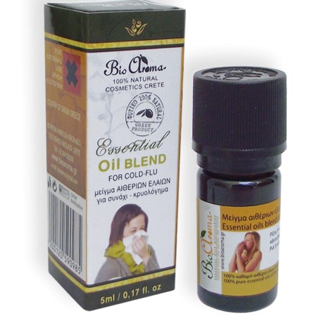 Bioaroma etherische olie mengsel tegen loopneus en verkoudheid